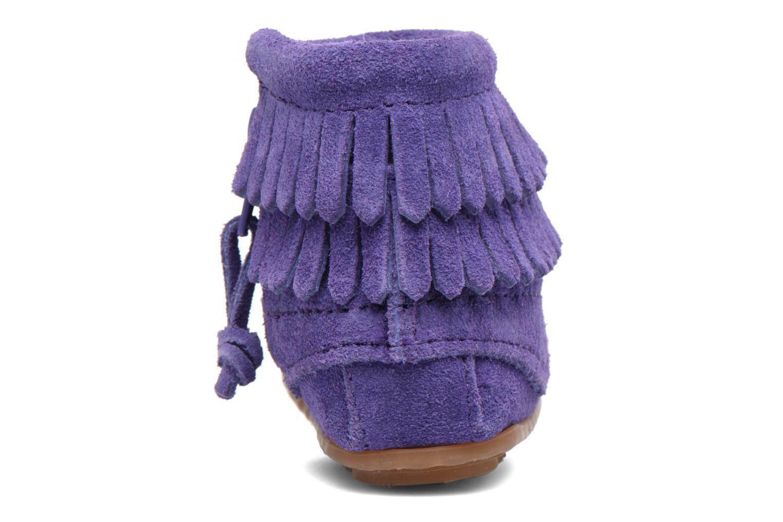 Bottines et boots Minnetonka Double Fringe side zip boot B Violet vue droite