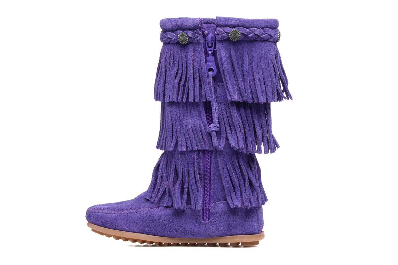 Bottes Minnetonka 3-Layer Fringe Boot E Violet vue face