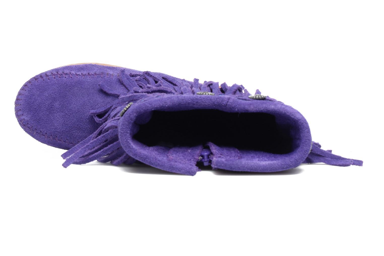 Bottes Minnetonka 3-Layer Fringe Boot E Violet vue gauche