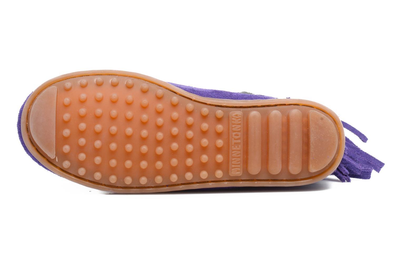 Bottes Minnetonka 3-Layer Fringe Boot E Violet vue haut