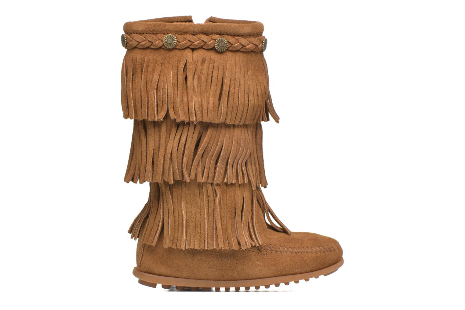 3-Layer Fringe Boot E DUSTY BROWN SUEDE