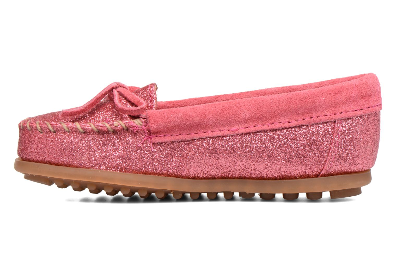 Loafers Minnetonka Glitter Moc Pink front view