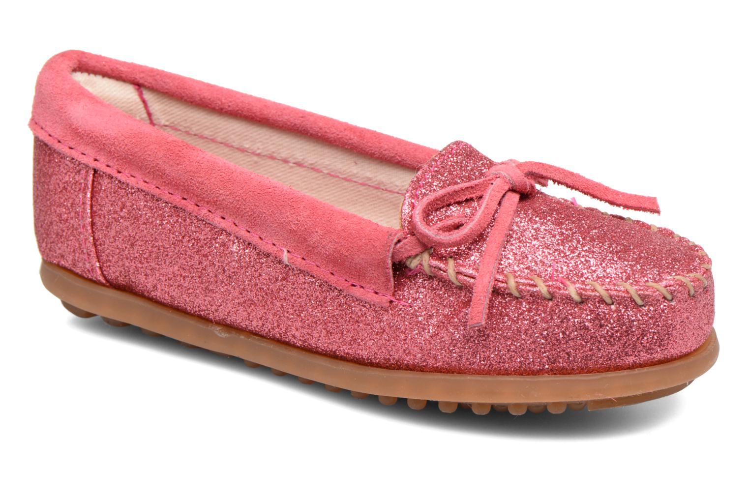 Loafers Minnetonka Glitter Moc Pink detailed view/ Pair view