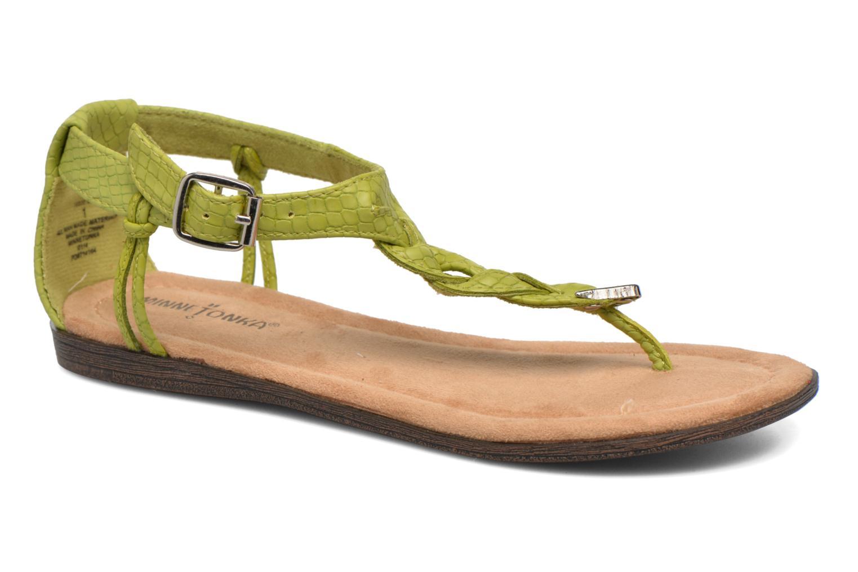 Sandales et nu-pieds Minnetonka Carnival Thong Vert vue détail/paire