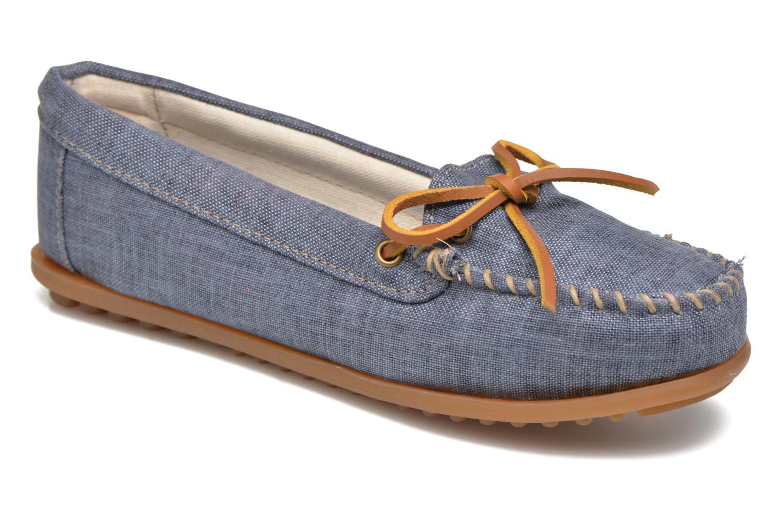Los últimos zapatos de descuento para hombres y mujeres Minnetonka Canvas Moc (Azul) - Mocasines en Más cómodo