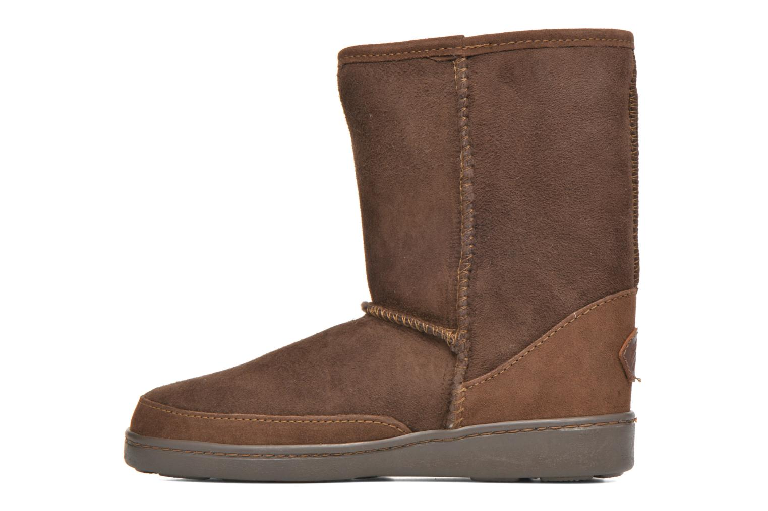 Bottines et boots Minnetonka Short Sheepskin Pug Boot W Marron vue face