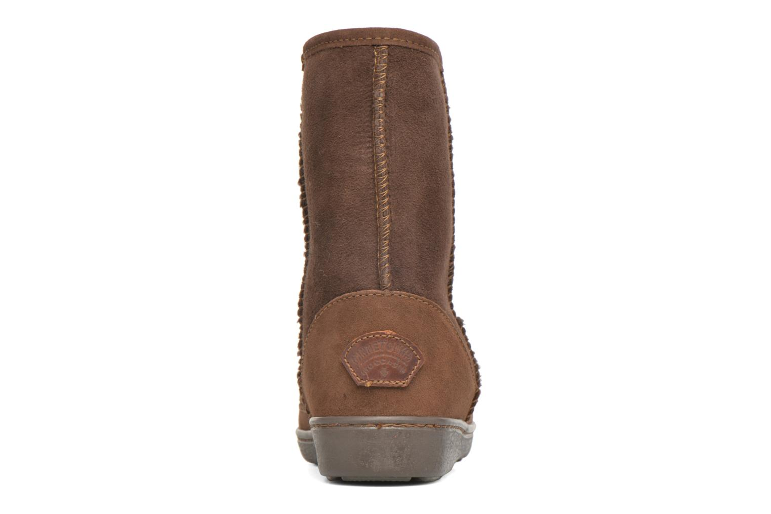 Botines  Minnetonka Short Sheepskin Pug Boot W Marrón vista lateral derecha
