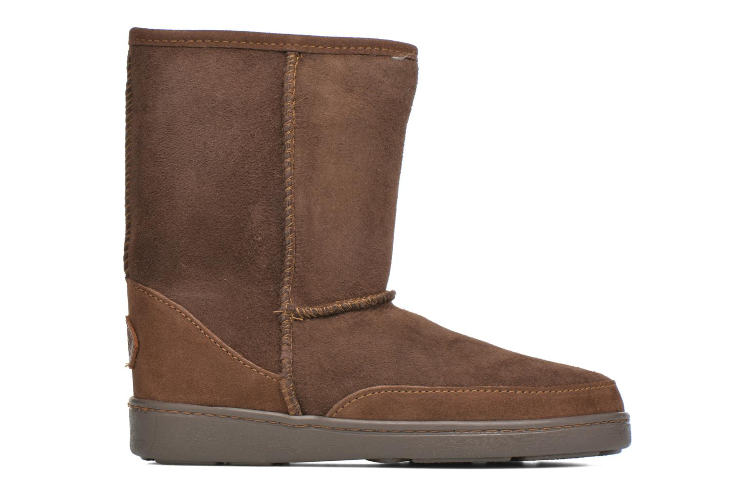 Botines  Minnetonka Short Sheepskin Pug Boot W Marrón vistra trasera