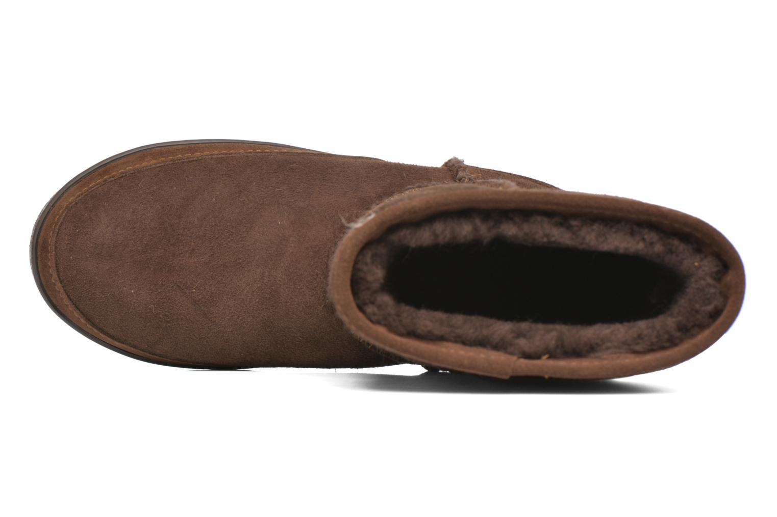 Botines  Minnetonka Short Sheepskin Pug Boot W Marrón vista lateral izquierda