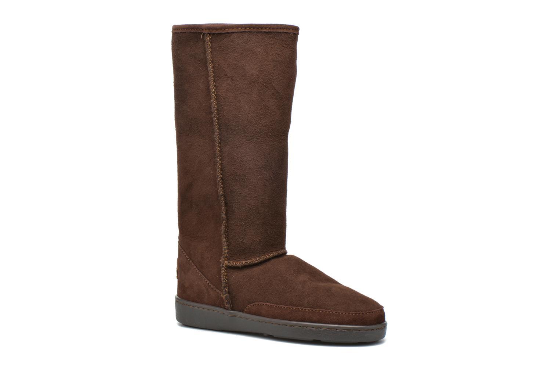Bottines et boots Minnetonka Tall Sheepskin Pug Boot W Marron vue 3/4