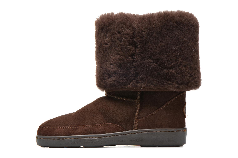 Bottines et boots Minnetonka Tall Sheepskin Pug Boot W Marron vue face