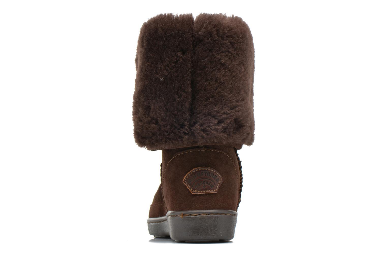 Bottines et boots Minnetonka Tall Sheepskin Pug Boot W Marron vue droite