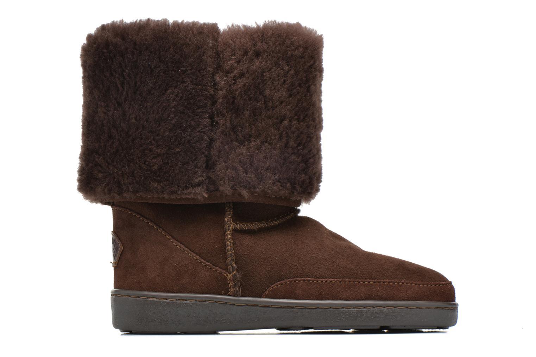 Bottines et boots Minnetonka Tall Sheepskin Pug Boot W Marron vue derrière