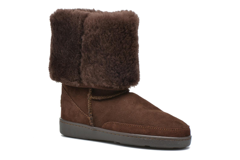 Bottines et boots Minnetonka Tall Sheepskin Pug Boot W Marron vue détail/paire