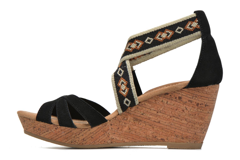 Sandali e scarpe aperte Minnetonka Drew Wedge Nero immagine frontale