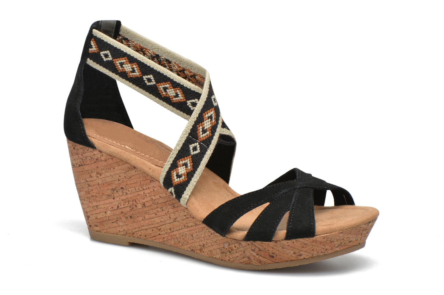 Drew Wedge Black Suede