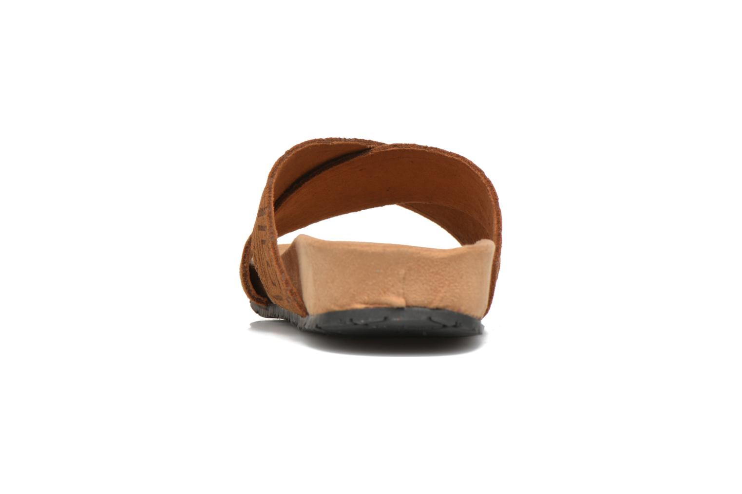Mules & clogs Minnetonka Lyric Sandal Brown view from the right