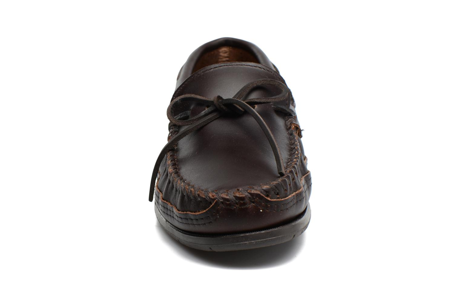 Double Bottom Hardsole Moc Dark Brown Lariat