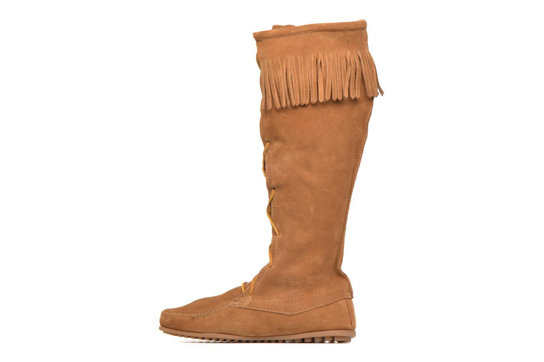 Bottes Minnetonka Front Lace Knee-Hi Boot Marron vue face