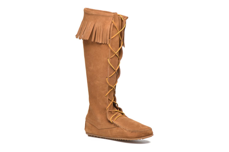 Bottes Minnetonka Front Lace Knee-Hi Boot Marron vue détail/paire