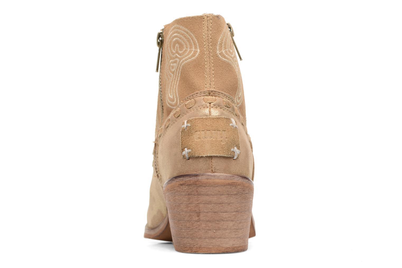 Bottines et boots Coolway Onyx Or et bronze vue droite