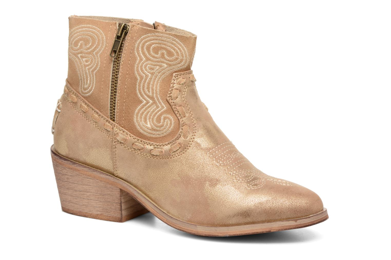 Ankle boots Coolway Onyx Bronze and Gold detailed view/ Pair view