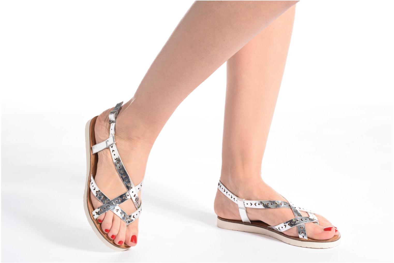 Sandales et nu-pieds Coolway Poppy Rose vue bas / vue portée sac