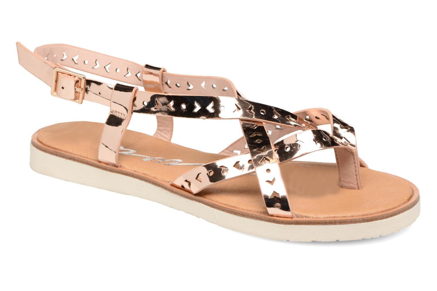 Sandals Coolway Poppy Pink detailed view/ Pair view