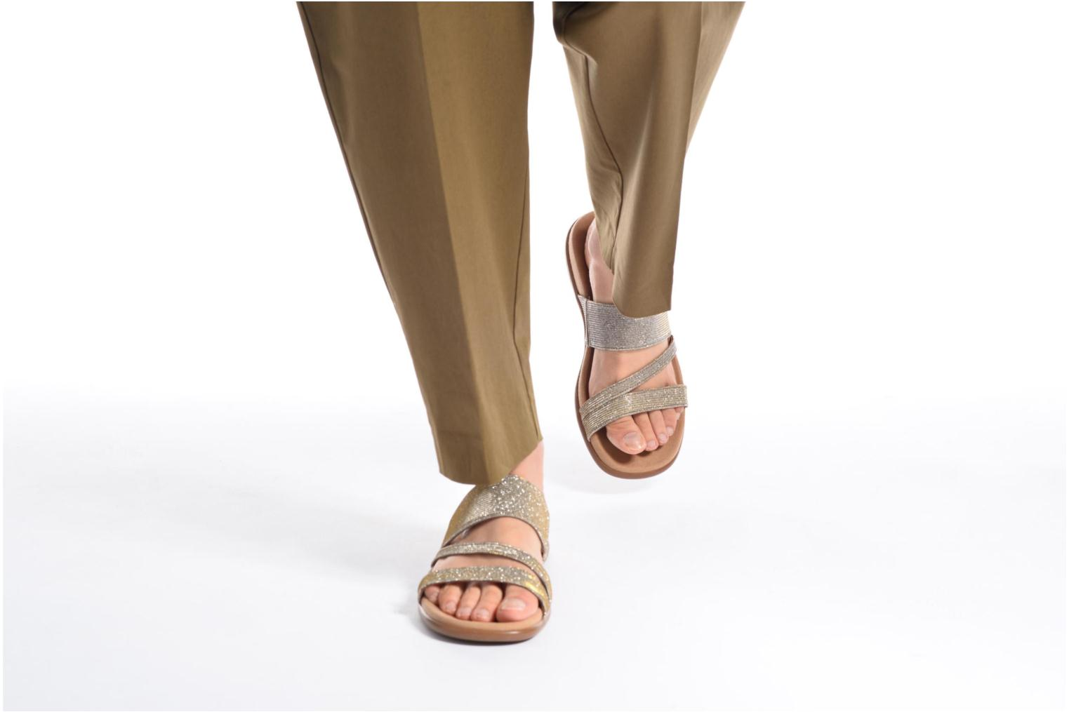 Mules & clogs Gabor Salerna Silver view from underneath / model view