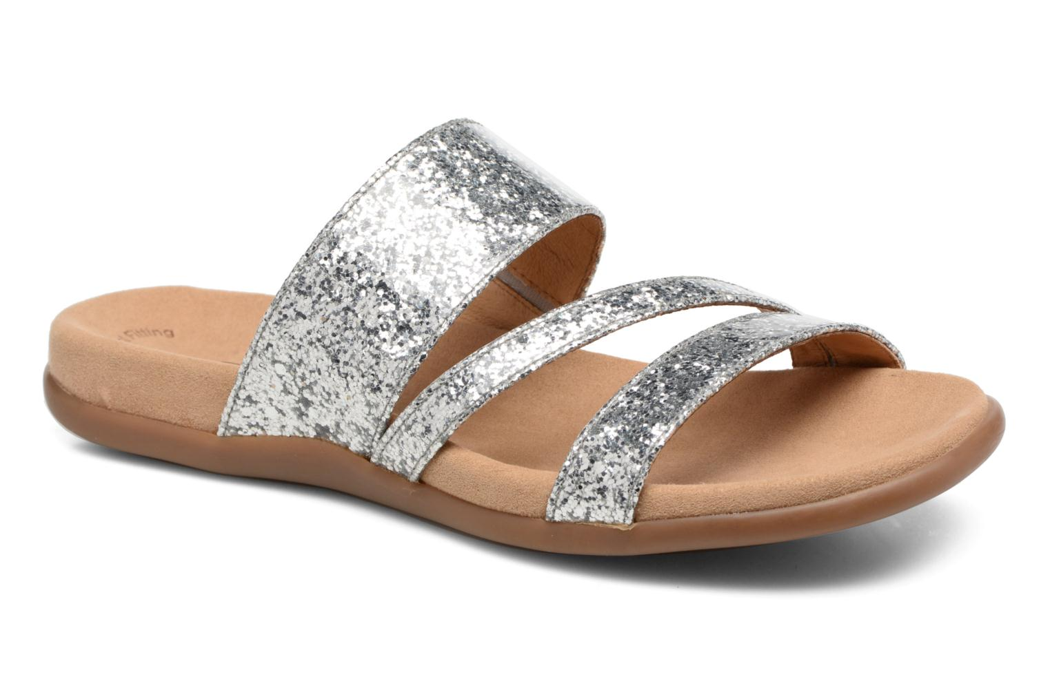Mules & clogs Gabor Salerna Silver detailed view/ Pair view