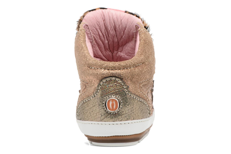 Baskets Shoesme Suzette Or et bronze vue droite