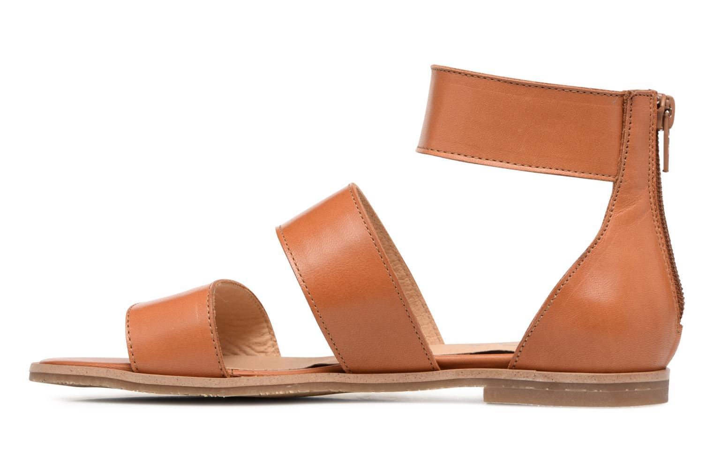 Sandales et nu-pieds Yep Martine Marron vue face