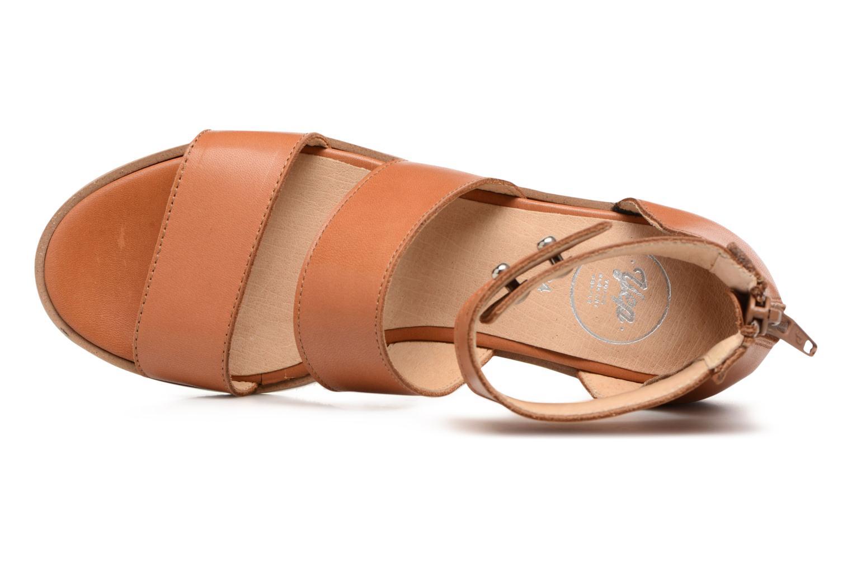 Sandales et nu-pieds Yep Martine Marron vue gauche