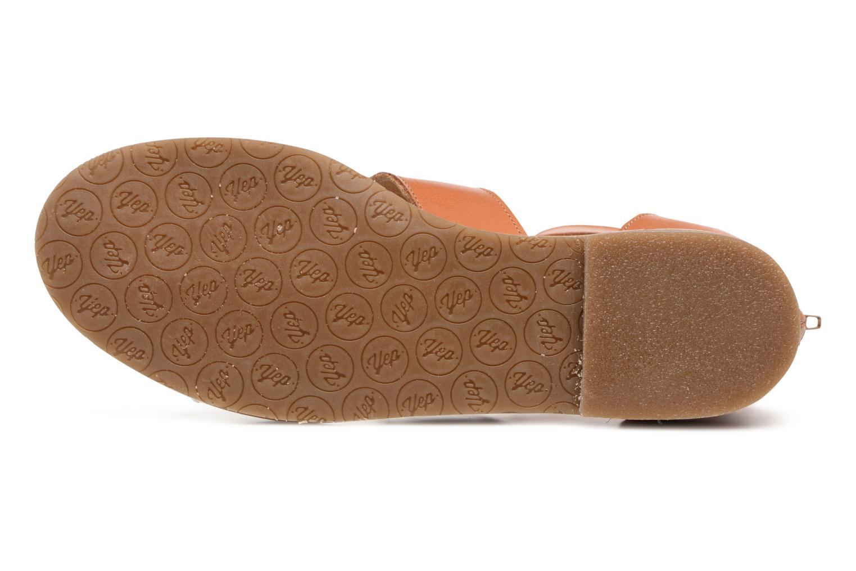 Sandales et nu-pieds Yep Martine Marron vue haut