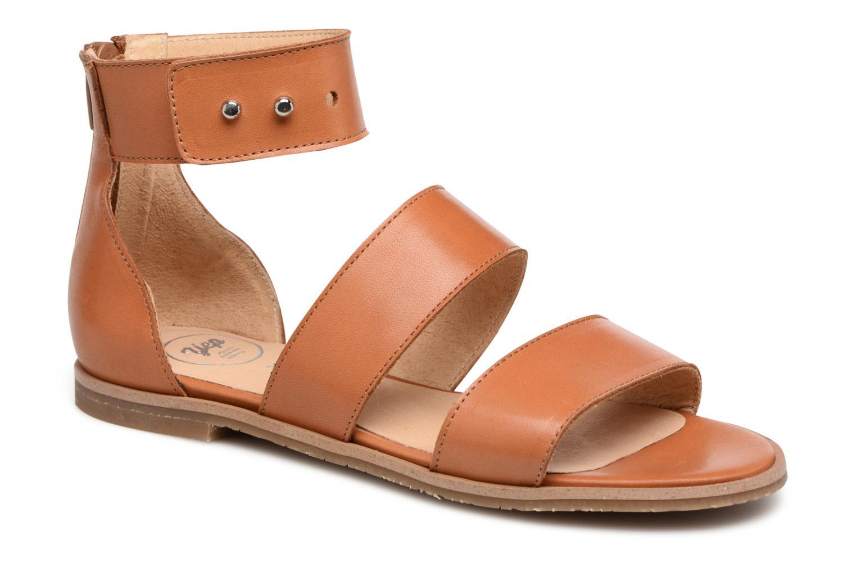 Sandales et nu-pieds Yep Martine Marron vue détail/paire
