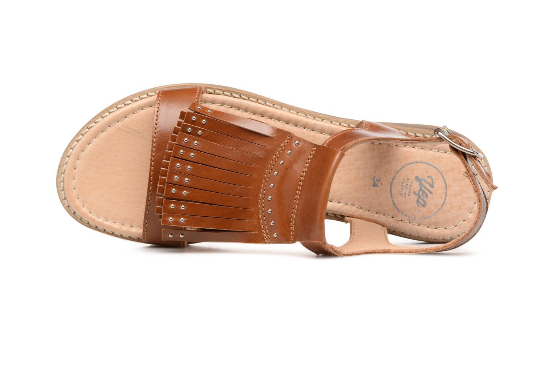 Sandales et nu-pieds Yep Melody (1371) Marron vue gauche