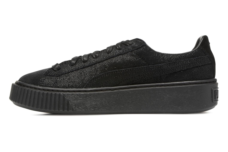 Sneaker Puma Wns Basket Platform Reset schwarz ansicht von vorne