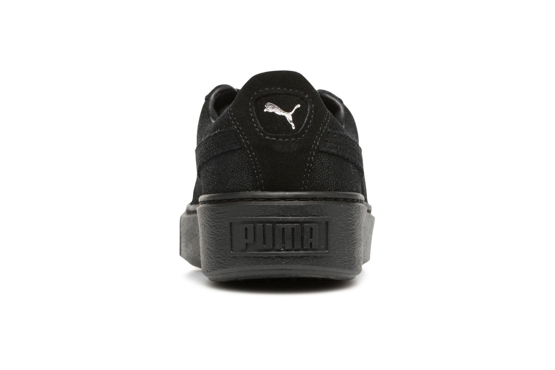 Baskets Puma Wns Basket Platform Reset Noir vue droite
