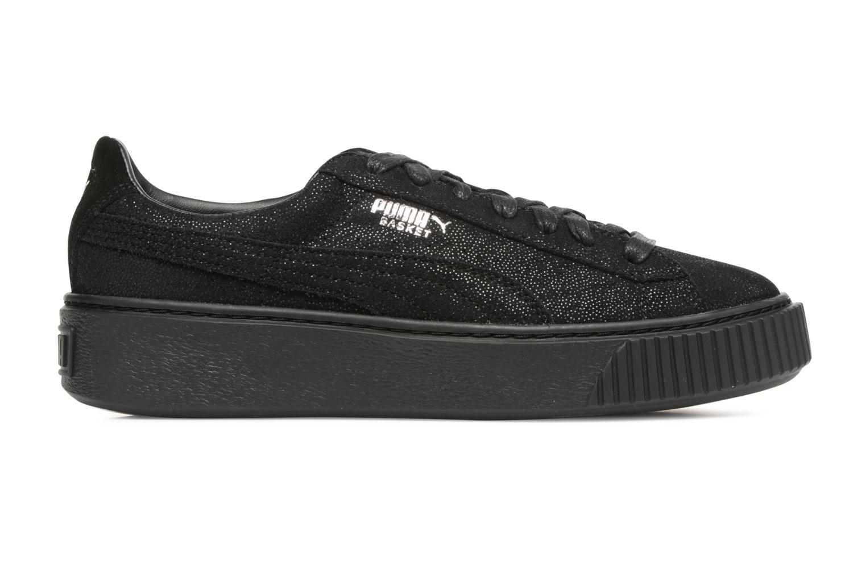 Sneaker Puma Wns Basket Platform Reset schwarz ansicht von hinten