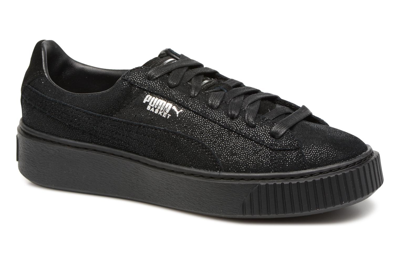 Sneaker Puma Wns Basket Platform Reset schwarz detaillierte ansicht/modell