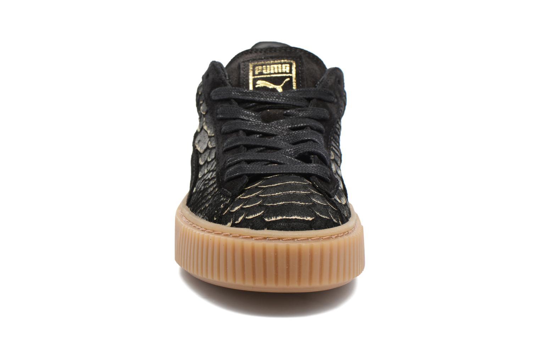 Baskets Puma Wns Platform Exotic Noir vue portées chaussures