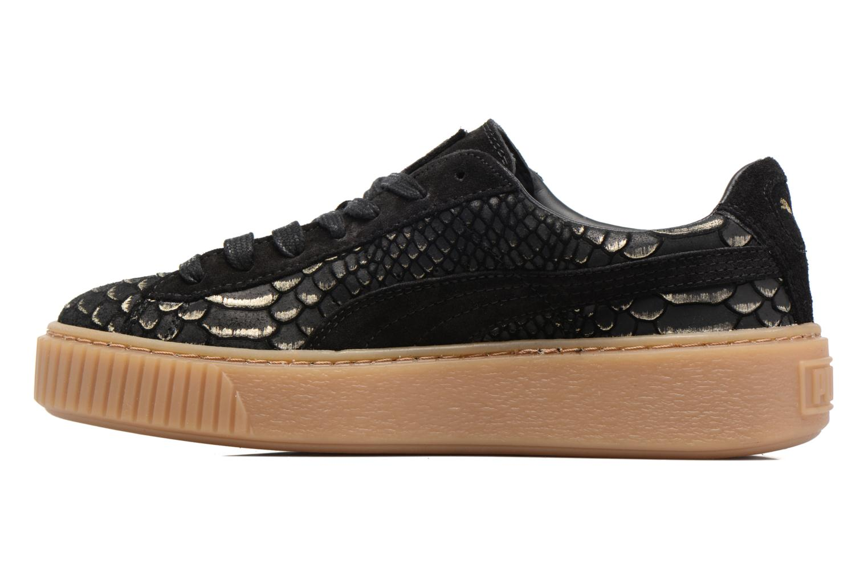 Sneaker Puma Wns Platform Exotic schwarz ansicht von vorne