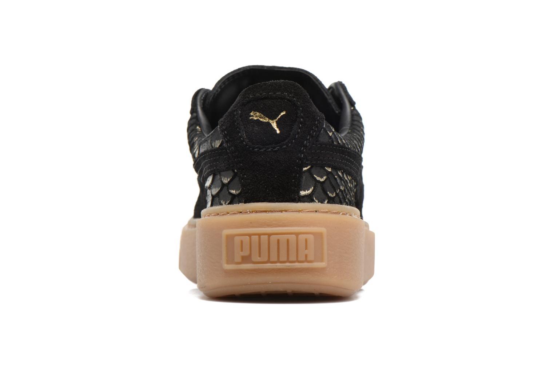 Baskets Puma Wns Platform Exotic Noir vue droite
