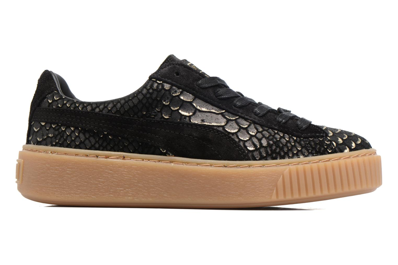 Sneaker Puma Wns Platform Exotic schwarz ansicht von hinten