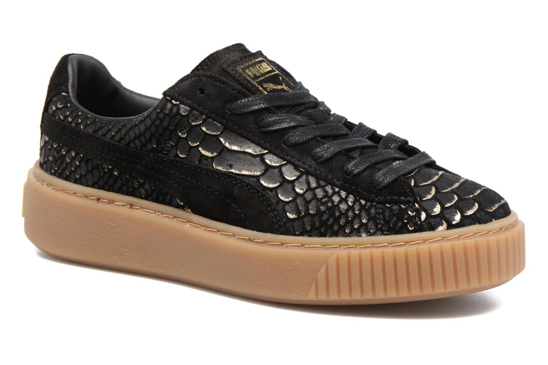 Baskets Puma Wns Platform Exotic Noir vue détail/paire