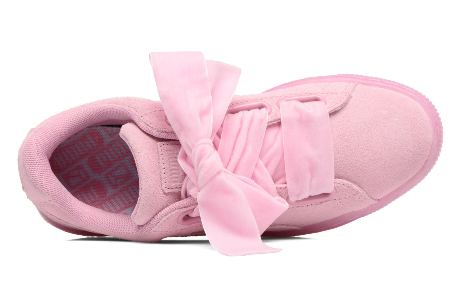 Baskets Puma Suede Heart Reset Wn's Rose vue gauche