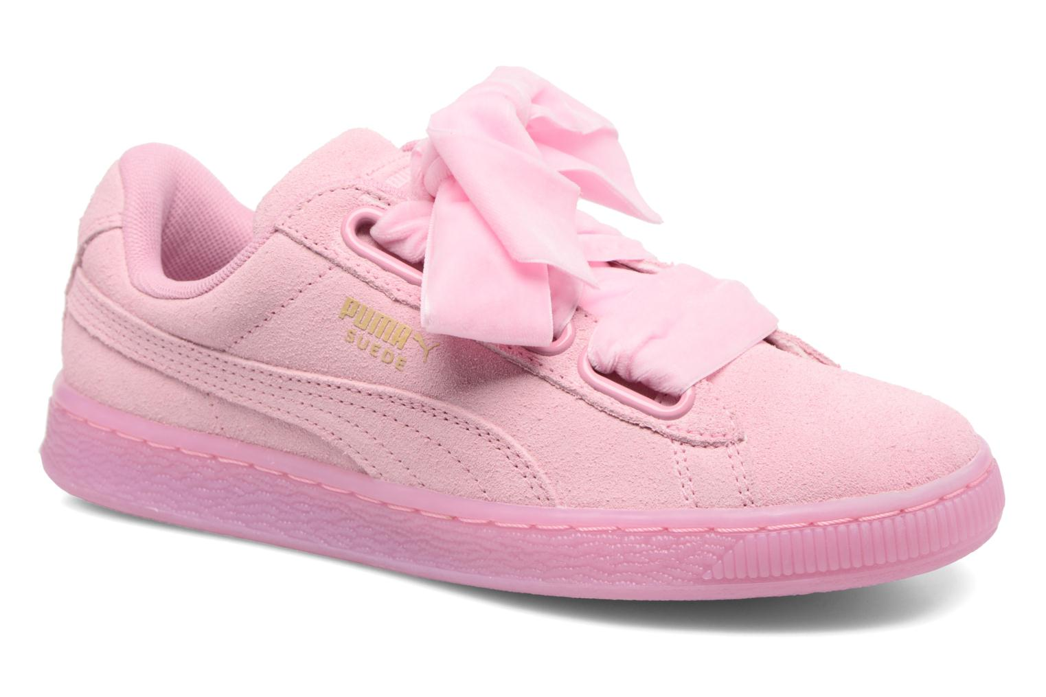 Baskets Puma Suede Heart Reset Wn's Rose vue détail/paire