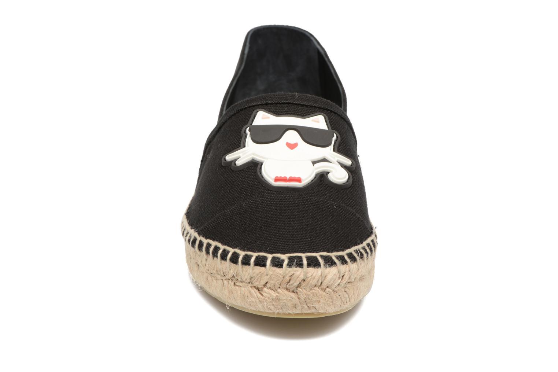 Espadrilles Karl Lagerfeld Ikonic Espadrille Noir vue portées chaussures