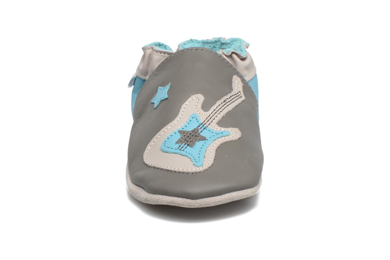 Chaussons Robeez Superstar Rock Gris vue portées chaussures