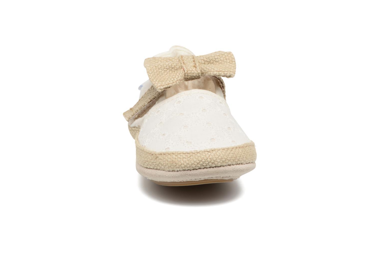 Chaussons Robeez Princess Beige vue portées chaussures